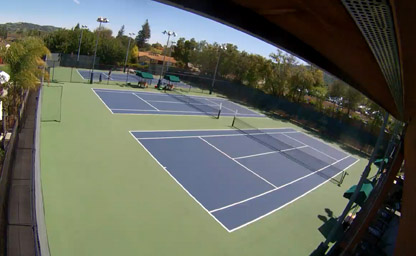 Tennis Courts 1-3 at Almaden Racquet Club
