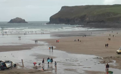 Polzeath Beach, North View